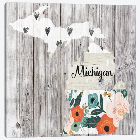 Michigan Canvas Print #FPP102} by Front Porch Pickins Canvas Art