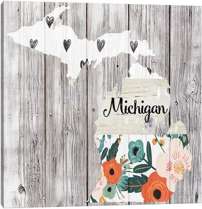 Michigan Canvas Art Print