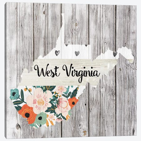 West Virginia Canvas Print #FPP129} by Front Porch Pickins Canvas Wall Art