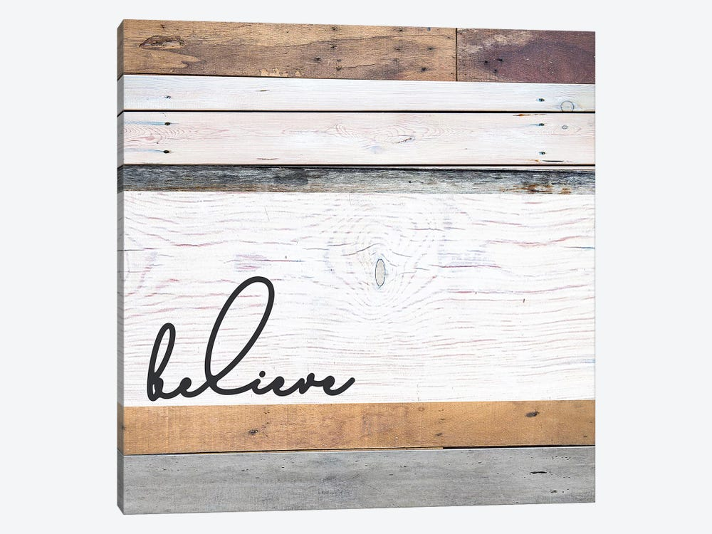 Believe by Front Porch Pickins 1-piece Canvas Wall Art
