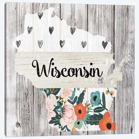 Wisconsin Canvas Print #FPP130} by Front Porch Pickins Canvas Print