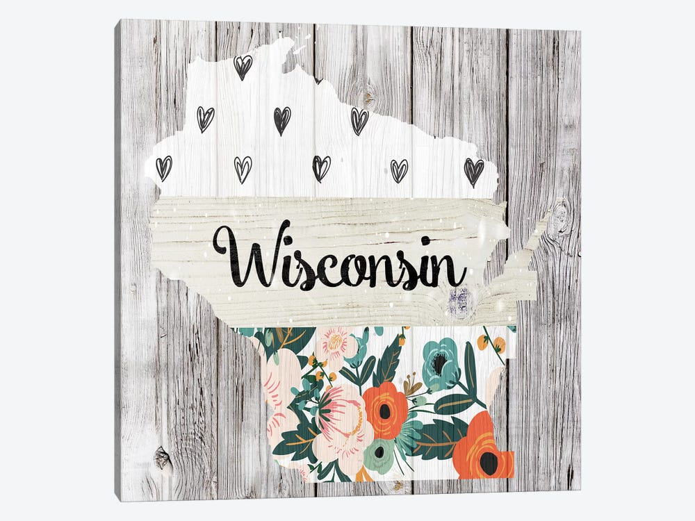 Wisconsin by Front Porch Pickins 1-piece Canvas Art