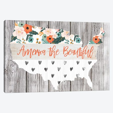 America The Beautiful Canvas Print #FPP132} by Front Porch Pickins Art Print