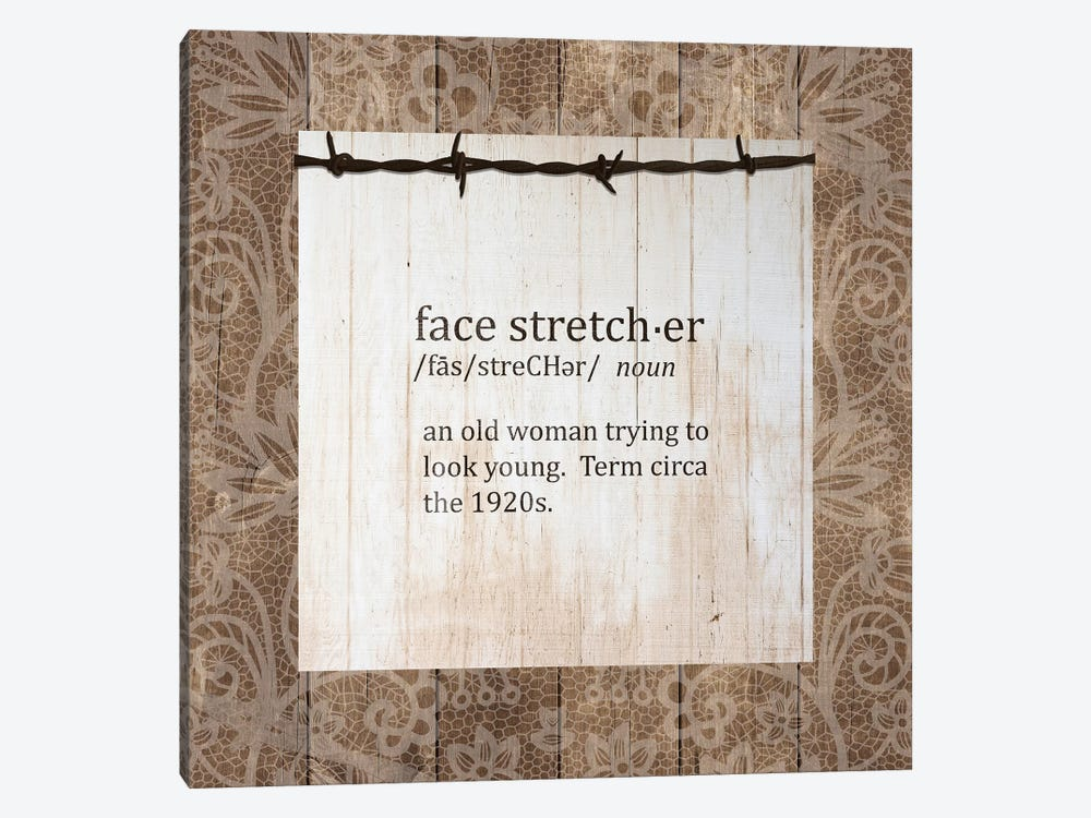 Face Stretcher by Front Porch Pickins 1-piece Canvas Art