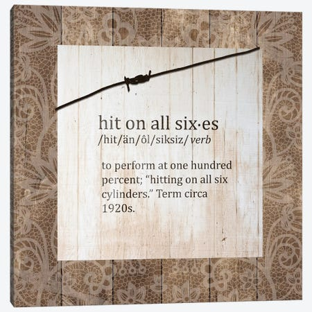 Hit On All Sixes Canvas Print #FPP140} by Front Porch Pickins Canvas Art