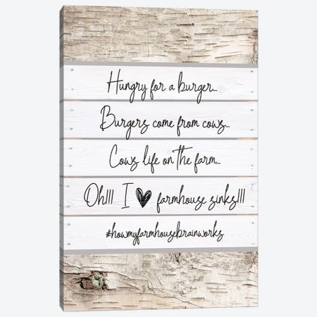 How My Brain Works IIII Canvas Print #FPP143} by Front Porch Pickins Canvas Artwork