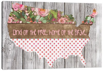 Land Of The Free, Home Of The Brave Canvas Art Print