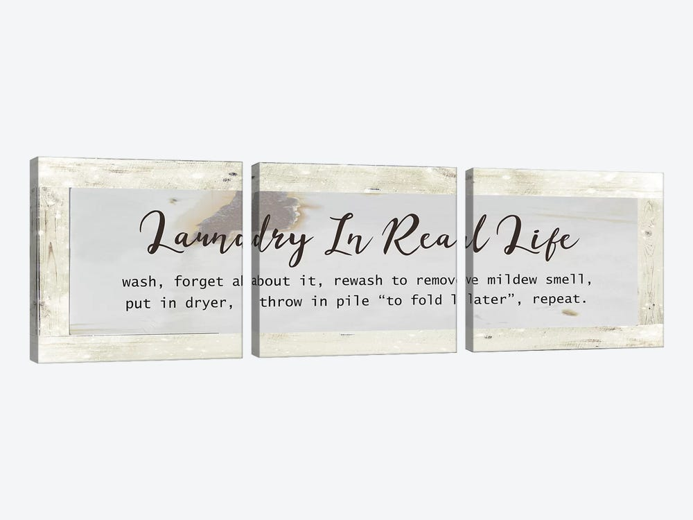 Laundry In Real Life by Front Porch Pickins 3-piece Canvas Art