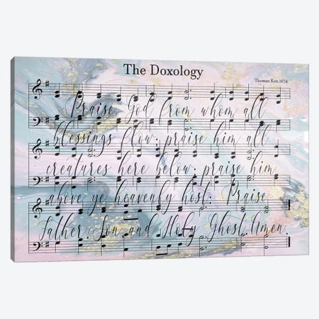 Doxology Sheet Music Lyrics Canvas Print #FPP14} by Front Porch Pickins Canvas Artwork