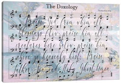 Doxology Sheet Music Lyrics Canvas Art Print