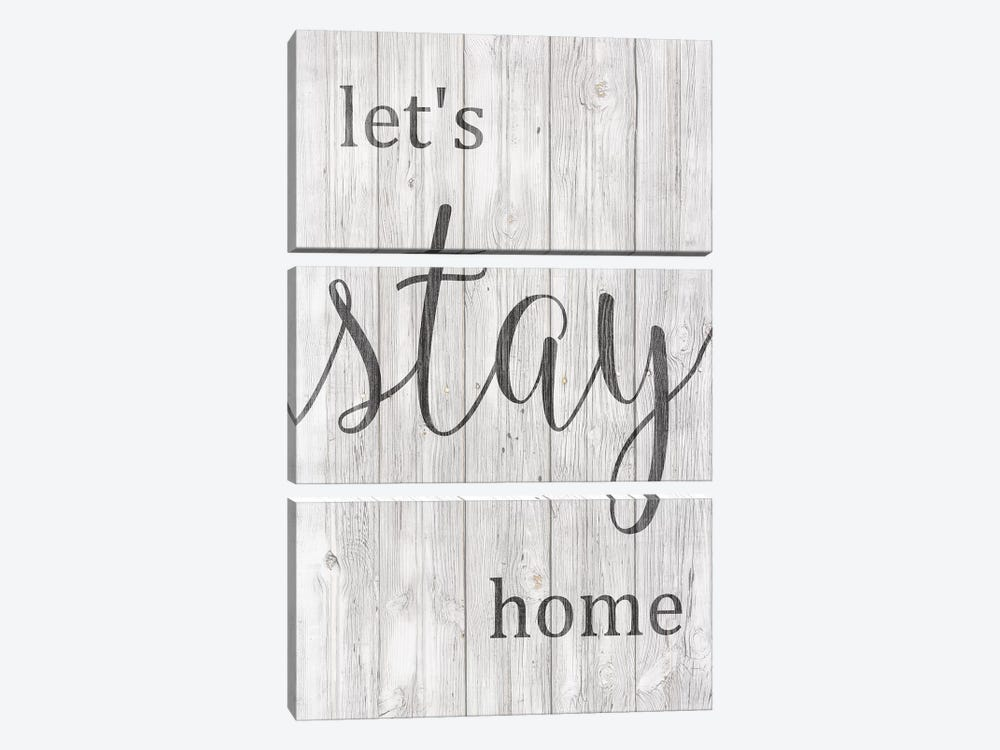 Let's Stay Home by Front Porch Pickins 3-piece Canvas Art