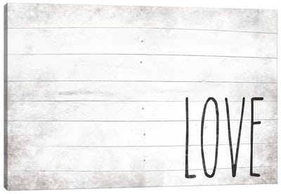Love Shiplap Canvas Art Print