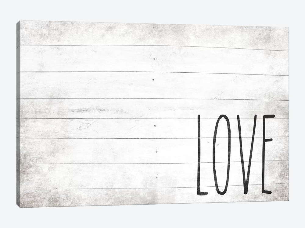 Love Shiplap by Front Porch Pickins 1-piece Canvas Art