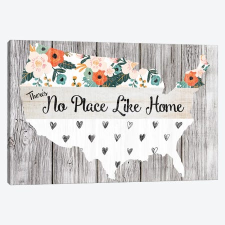 No Place Like Home Canvas Print #FPP153} by Front Porch Pickins Art Print