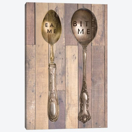 Vintage Silverware III Canvas Print #FPP156} by Front Porch Pickins Canvas Wall Art