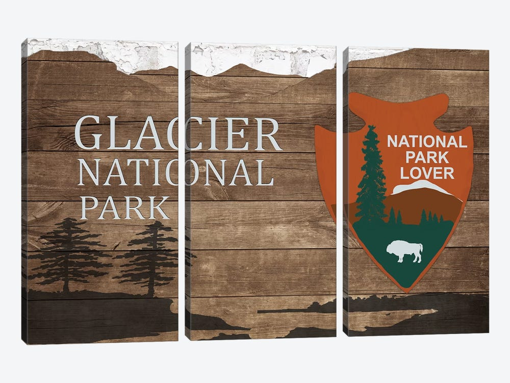 Glacier National Park  by Front Porch Pickins 3-piece Canvas Art