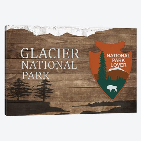 Glacier National Park  Canvas Print #FPP165} by Front Porch Pickins Art Print