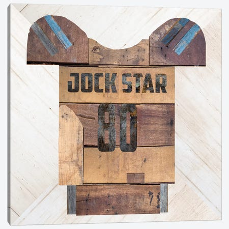 Jock Star Football Canvas Print #FPP171} by Front Porch Pickins Canvas Art Print