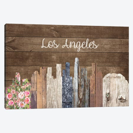 Los Angeles Canvas Print #FPP172} by Front Porch Pickins Art Print