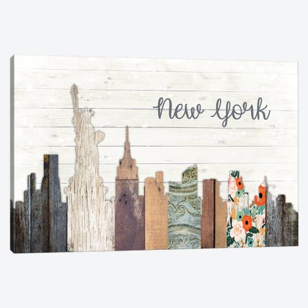 New York Canvas Print #FPP173} by Front Porch Pickins Art Print