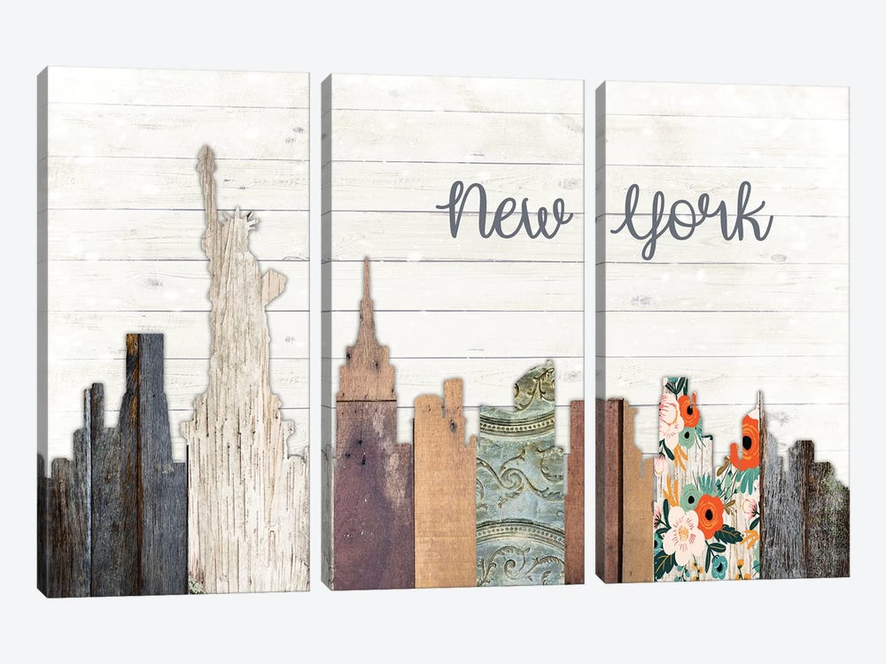 New York by Front Porch Pickins 3-piece Canvas Art Print
