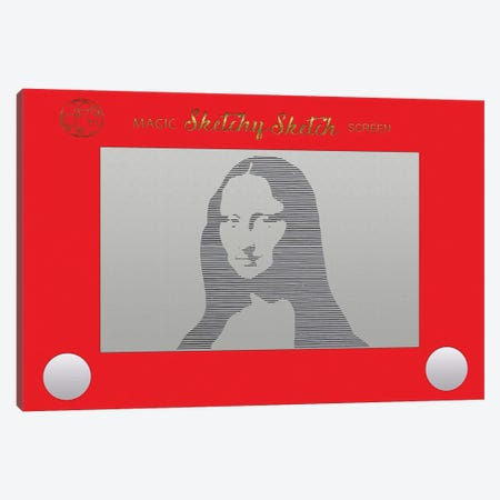 Sketchy Sketch Mona Lisa Canvas Print #FPP177} by Front Porch Pickins Canvas Artwork