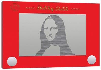 Sketchy Sketch Mona Lisa Canvas Art Print
