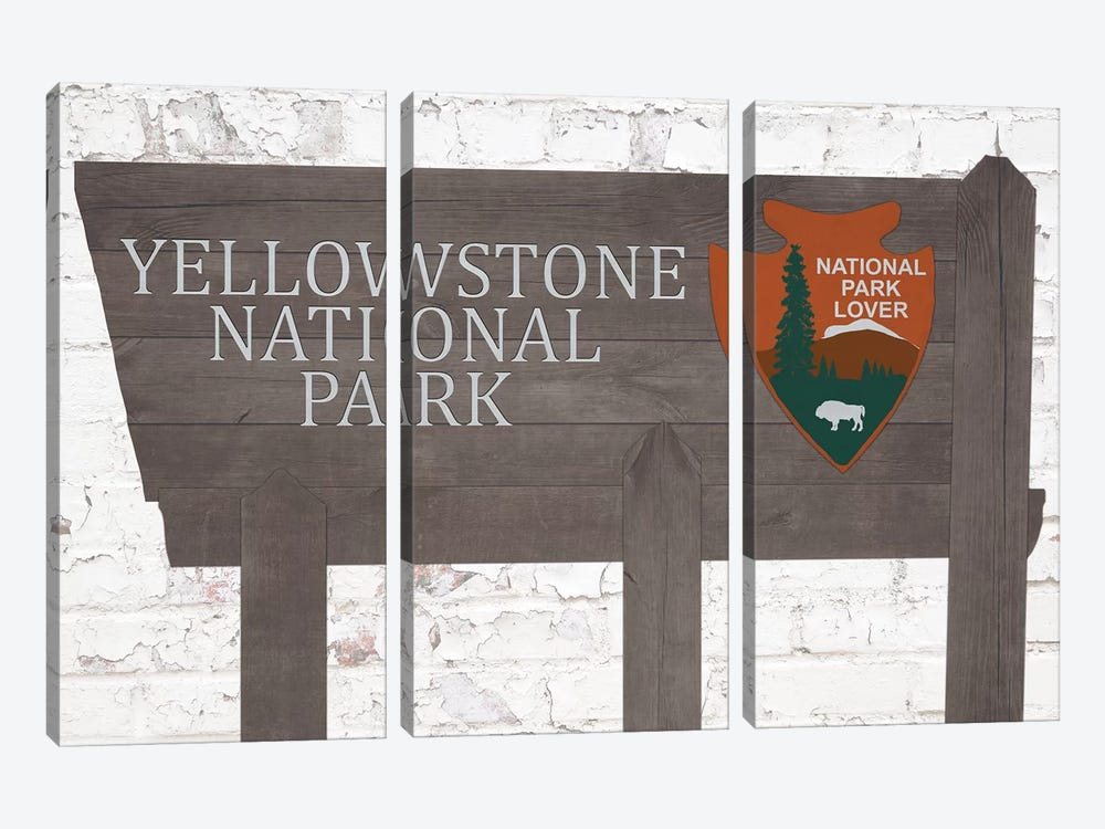 Yellowstone National Park by Front Porch Pickins 3-piece Canvas Art