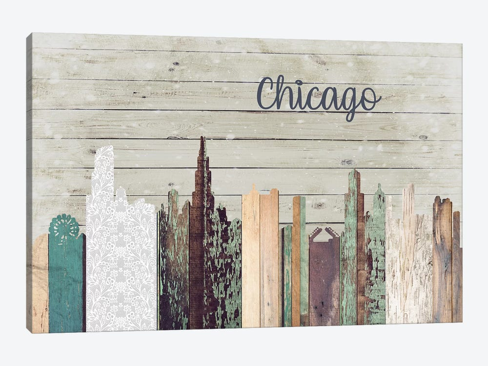 Chicago by Front Porch Pickins 1-piece Canvas Wall Art