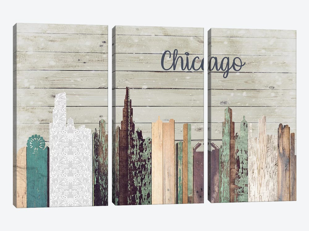 Chicago by Front Porch Pickins 3-piece Canvas Wall Art