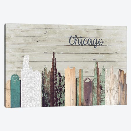 Chicago Canvas Print #FPP183} by Front Porch Pickins Canvas Wall Art