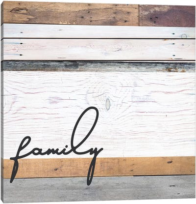 Family Pallet Canvas Art Print