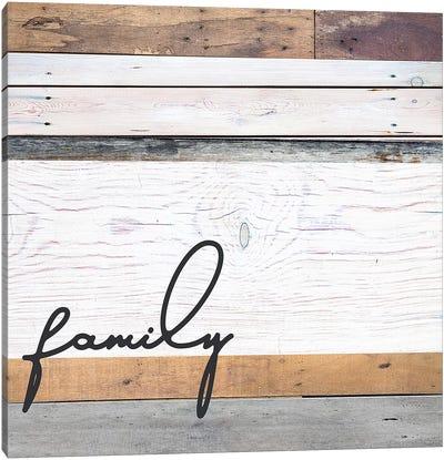 Family Pallet Canvas Art Print