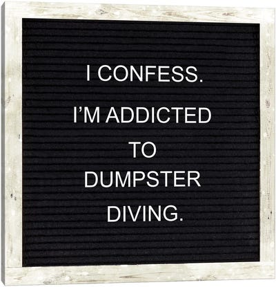 I Confess Canvas Art Print