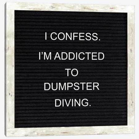 I Confess Canvas Print #FPP192} by Front Porch Pickins Canvas Art Print