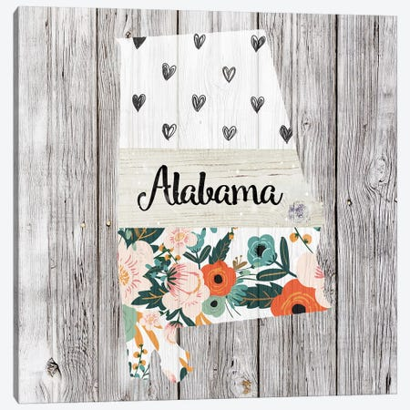 Alabama Canvas Print #FPP1} by Front Porch Pickins Canvas Wall Art