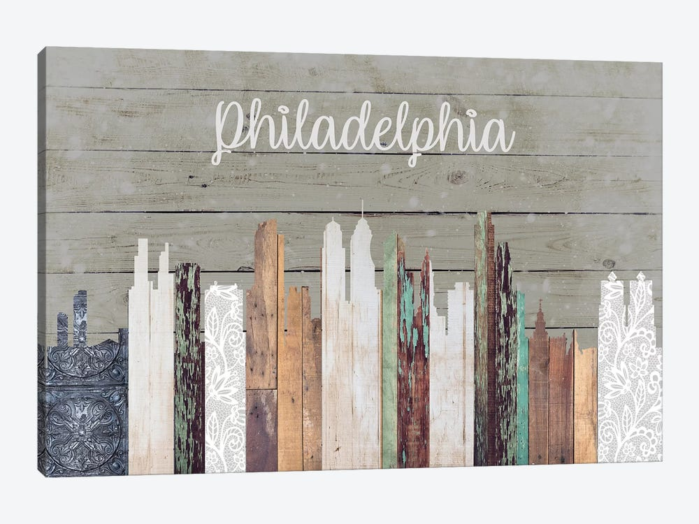 Philadelphia by Front Porch Pickins 1-piece Canvas Wall Art