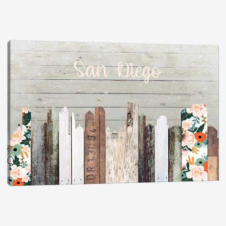 San Diego Canvas Print #FPP207} by Front Porch Pickins Canvas Art