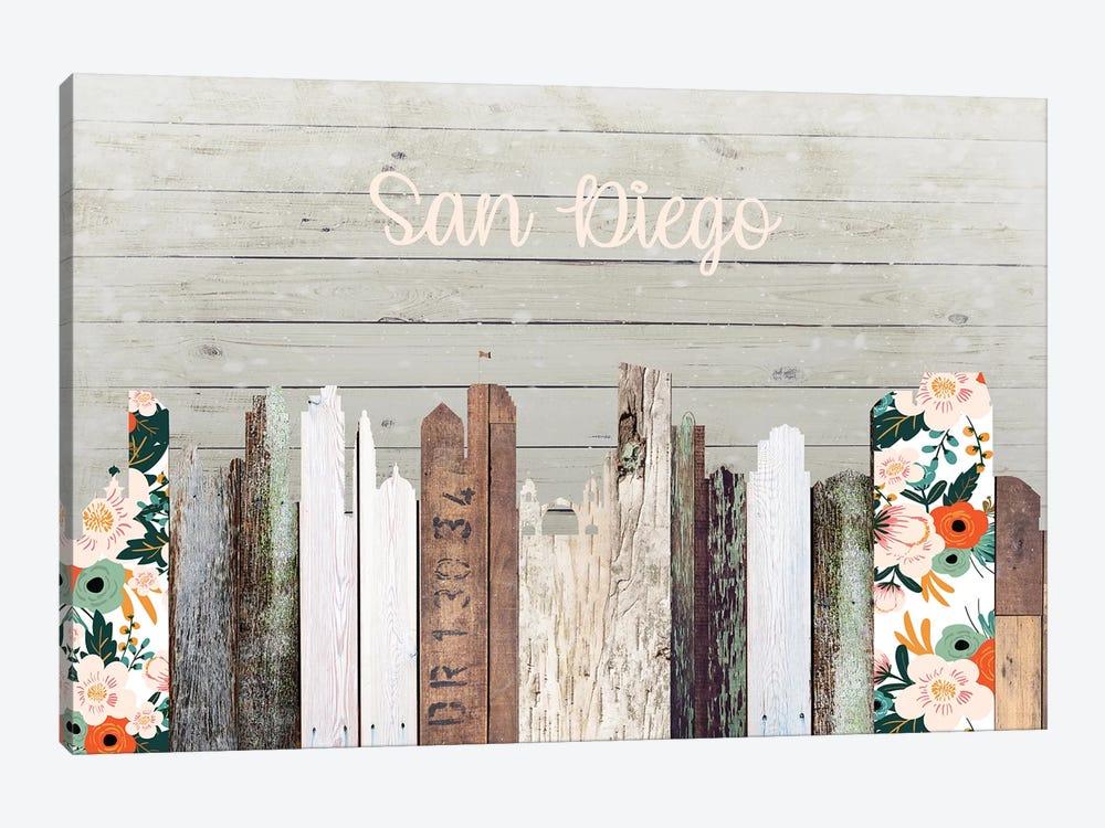 San Diego by Front Porch Pickins 1-piece Canvas Art