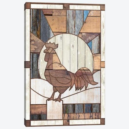 Rooster Canvas Print #FPP210} by Front Porch Pickins Canvas Wall Art