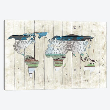 World Map I Canvas Print #FPP215} by Front Porch Pickins Art Print