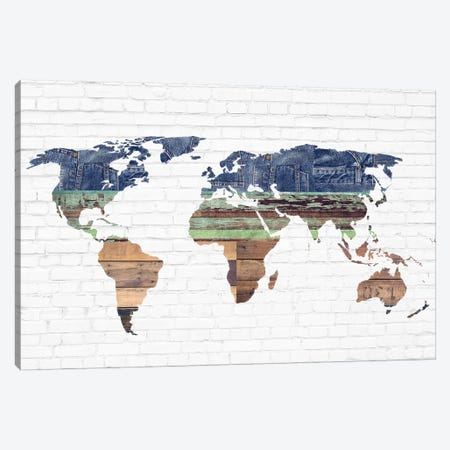 World Map II Canvas Print #FPP216} by Front Porch Pickins Art Print