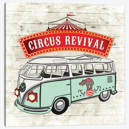 Circus Revival Canvas Print #FPP239} by Front Porch Pickins Canvas Wall Art