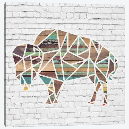 Origami Bull Canvas Print #FPP246} by Front Porch Pickins Canvas Artwork