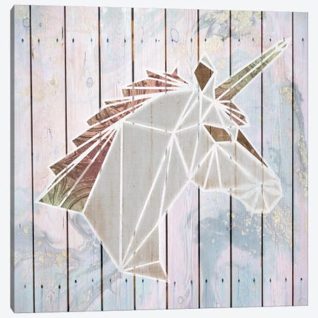 Origami Unicorn Canvas Print #FPP247} by Front Porch Pickins Canvas Artwork