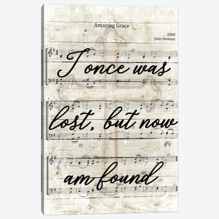 Amazing Grace Now I'm Found Canvas Print #FPP255} by Front Porch Pickins Canvas Art Print