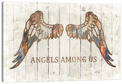Angels Among Us Patchwork Canvas Art Print