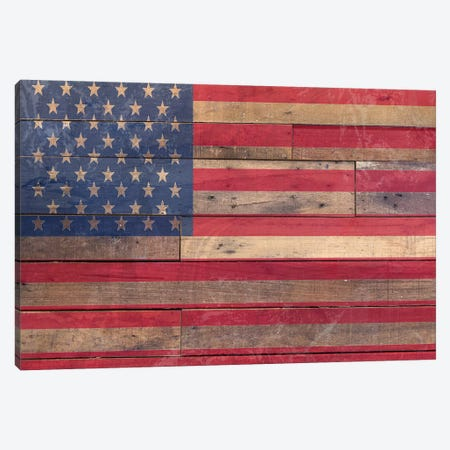 Old Glory Canvas Print #FPP297} by Front Porch Pickins Art Print