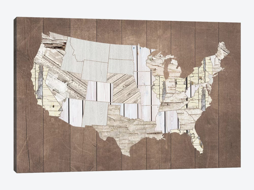 The Patchwork Of America by Front Porch Pickins 1-piece Canvas Art