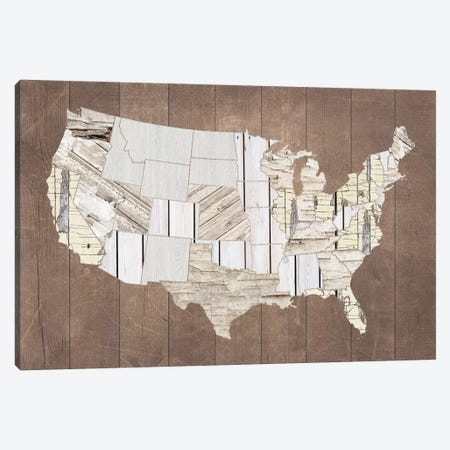 The Patchwork Of America Canvas Print #FPP298} by Front Porch Pickins Canvas Artwork